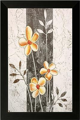 SAF Special Effect Textured Floral with UV Print Painting (SANFO145, 30 cm x 3 cm x 45 cm) SANFO145
