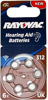 Varta Rayovac Acoustic Special 312 Hörgeräte Zellen (1,4V, 180mAh, 10x 6 er Blister)