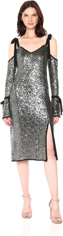 Rachel Roy Womens Sequin Bell Sleeve Dress Dress