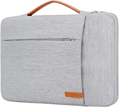Lacdo 360° Protective Laptop Sleeve Case Briefcase Compatible 15.6 Inch Acer Aspire, Predator, Toshiba, Inspiron, ASUS P-Series, HP Pavilion, Chromebook Notebook Bag, Water Repellent, Light Gray