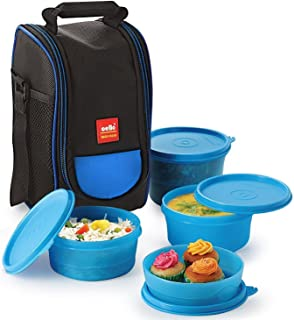 Cello Max Fresh Super Polypropylene Lunch Box Set 4-Pieces Standard Blue