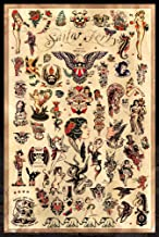Sailor Jerry Tattoo Flash (Style C) Poster 24x36