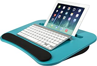 LapGear eDesk Lap Desk - Turquoise - Fits up to 15.6 Inch laptops and Most Tablet Devices - Style No. 91309