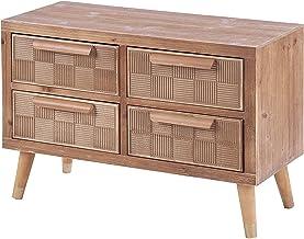 ts-ideen – Cómoda con cajones, mueble de TV, mesa de televisión, pasillo, estantería de madera, 55 x 80 cm