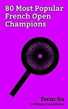 Focus On: 80 Most Popular French Open Champions: Roger Federer, Rafael Nadal, Novak Djokovic, Maria Sharapova, Andre Agassi, Stan Wawrinka, Sania Mirza, ... Billie Jean King, Margaret Court, etc.