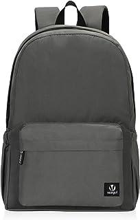 Veegul Lightweight School Backpack Classic Bookbag for Girls Boys (Grey)