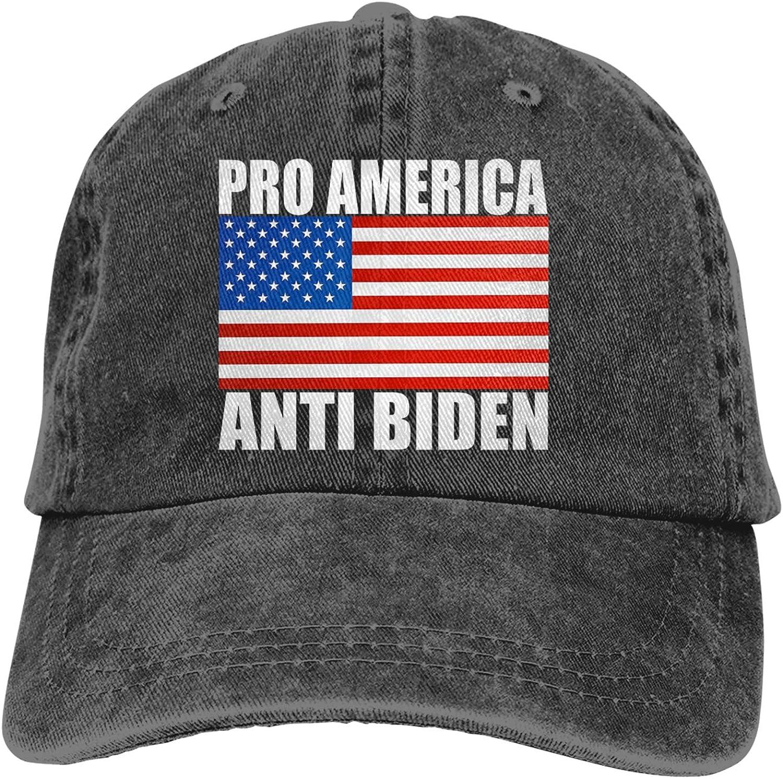 Pro America, Anti Biden Classic Unisex Truck Baseball Cowboy Hat Metal Adjustable Cap