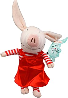 Nick Jr's Olivia Red Dress and Striped Sleeves Small Kids Plush Toy (11in)