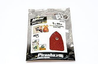 Piranha Mouse schuurpapier (korrel 80, fijn gekorreld, met klittenband Fix, 5 stuks, geschikt voor compacte muis) X31004