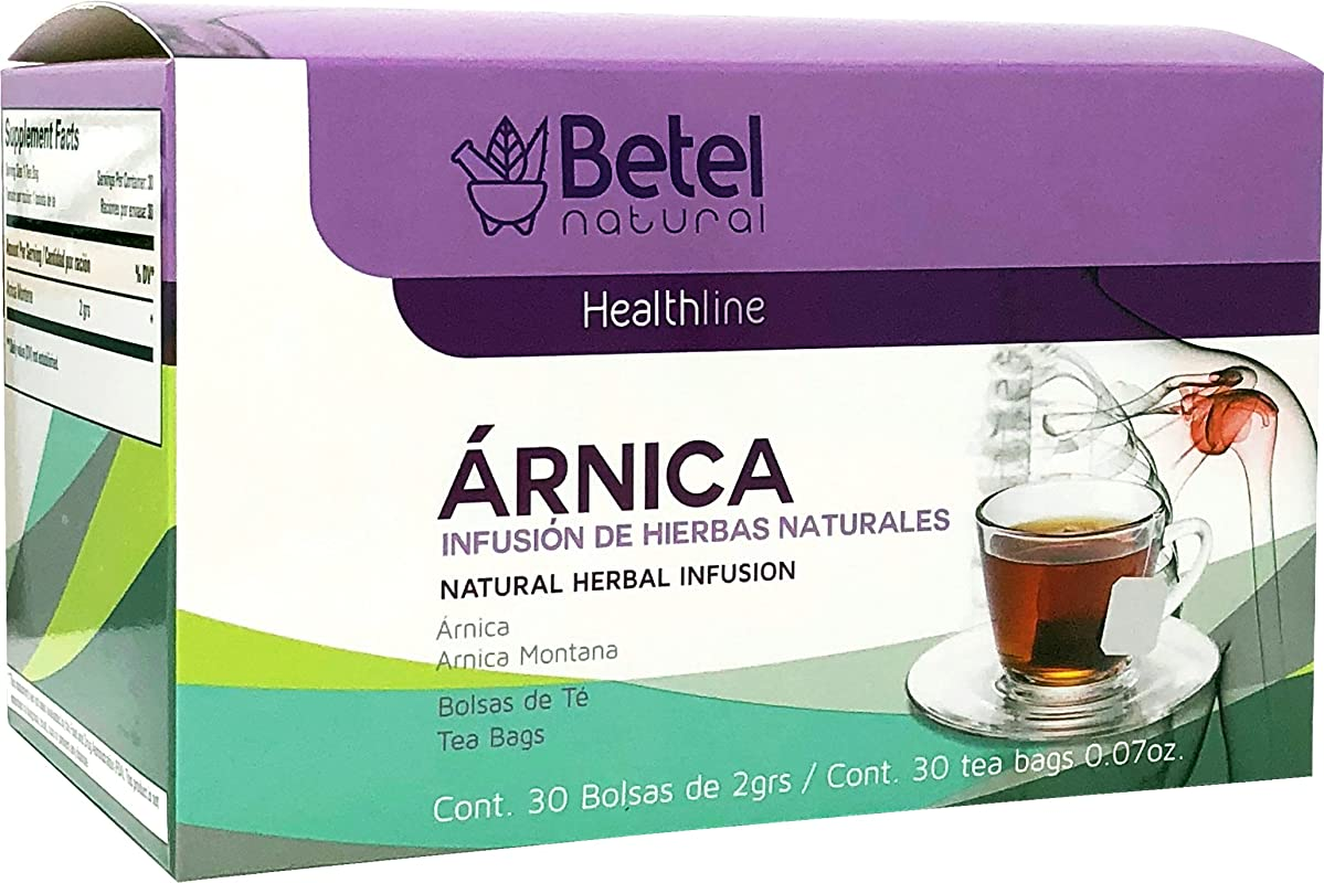 Arnica Tea By Betel Natural Inflammation And Pain Support 30 Tea Bags