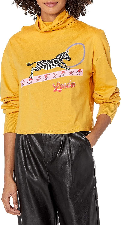 KENDALL + ついに入荷 KYLIE Women's Sweatshirt Turtle 激安価格と即納で通信販売 Graphic Neck