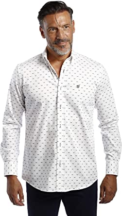 THE TIME OF BOCHA Camisa Hombre Cachemir Blanco