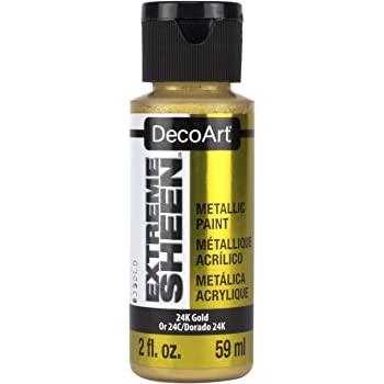DecoArt 2 Ounce, 24K Gold Extreme Sheen Paint, 1