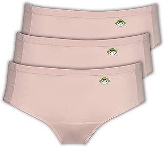 Beige Color 3 PK. Panty for Teen Girls - Period Menstrual Sanitary Protective Panties