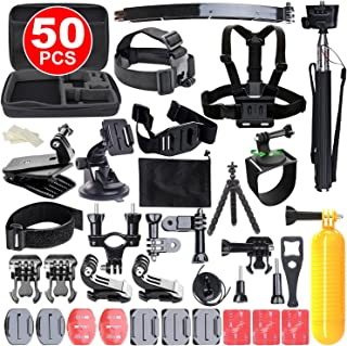 OZSTOCK Gopro Accessories Kit 50in1 Hero 6/5/4/3+/3/2 Pack Case Chest Head Monopod