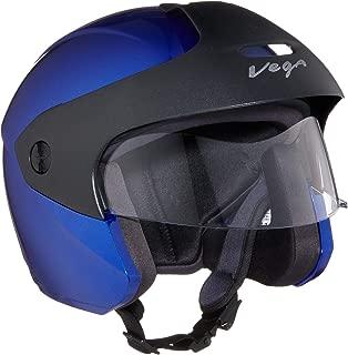 Vega Open Face Junior Buds Helmet (Blue, XS)
