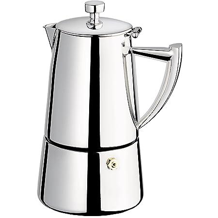 Amazon Com Cuisinox Roma 6 Cup Stainless Steel Stovetop Moka Espresso Maker Stovetop Espresso Pots Kitchen Dining