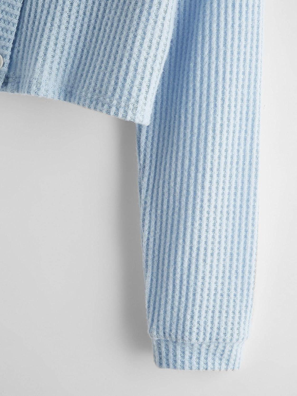 SweatyRocks Women's Plus Long Sleeve V Neck Button Front Knit Crop Top Cardigan