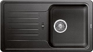 BLANCO Favos Mini, Küchenspüle aus Silgranit, Anthrazit-schwarz, reversibel / mit 3 1/2 Korbventil - ohne Ablauffernbedienung 518186
