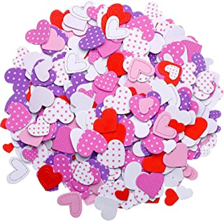 Tatuo 600 Pieces Foam Heart Foam Adhesive Hearts Stickers Mother's Day Valentine's Day Foam Heart Stickers for Arts Craft, Mother's Day Cards, Scrapbook Decoration (Colorful Foam Stickers)