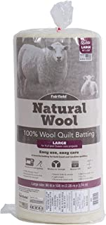 Fairfield Natural Wool Quilt Batting-100% Sheep's Queen Size, 90