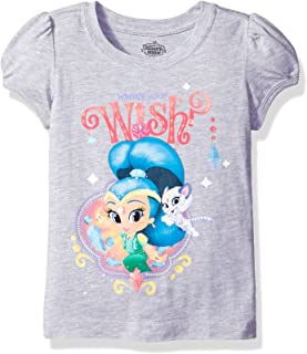 a0e4e35d37 Nickelodeon Girls' Toddler Girls' Shimmer and Shine Twinsies Puff Short  Sleeve T-Shirt