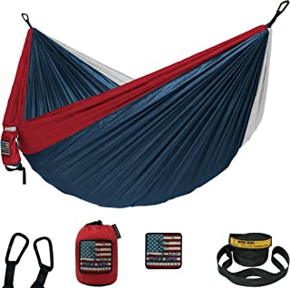Wise Owl Outfitters Camping Hammocks - Portable Hammock Single or Double Hammock for Outdoor, Indoor w/ Tree Straps - Back...