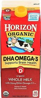 Horizon Organic Milk Plus DHA Omega-3 Whole Milk Ultra Pasteurized, Half Gallon