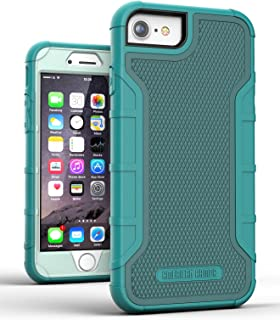 iPhone 6 Plus Case Green - Tough Cover w/Built in Screen Protector, American Armor² (Heavy Duty) Rugged Hybrid Case for Apple iPhone6 (iPhone 6S) 4.7