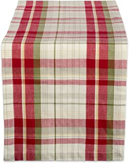 DII Orchard Plaid 100% Cotton Table Runner, Machine Washable for Holiday Gatherings, Dinner Parties, & Christmas (14x108