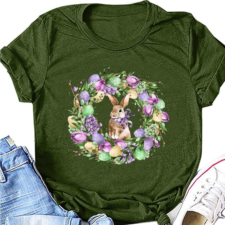 Short Sleeve Shirts for Women,Women Summer Shirt Cute Graphic T Shirt Casual Montain Hiking Tees Short Sleeve Tee Top Army Green