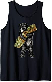 Marijuana I Love Weed California Shirt Art-Retro Cali Bear Tank Top