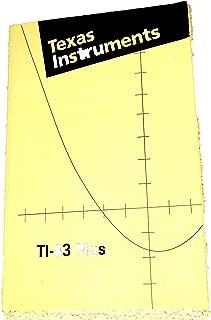 TI-83 Plus instruction Manual (Texas Instruments Graphing Calculator TI83 plus MANUAL)