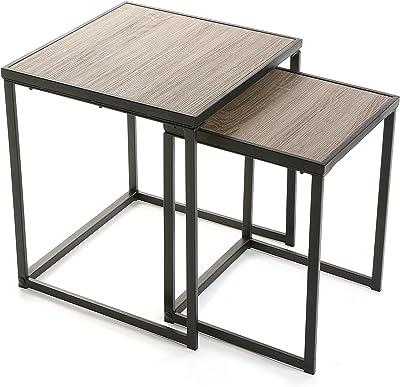Versa Duncan Lot de 2 Tables Chêne
