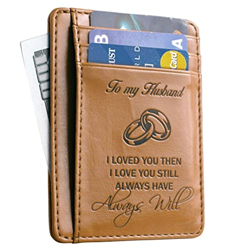 Memory Wife To Husband Gift Best Anniversary Gifts For Him Slim Wallet Card Holder