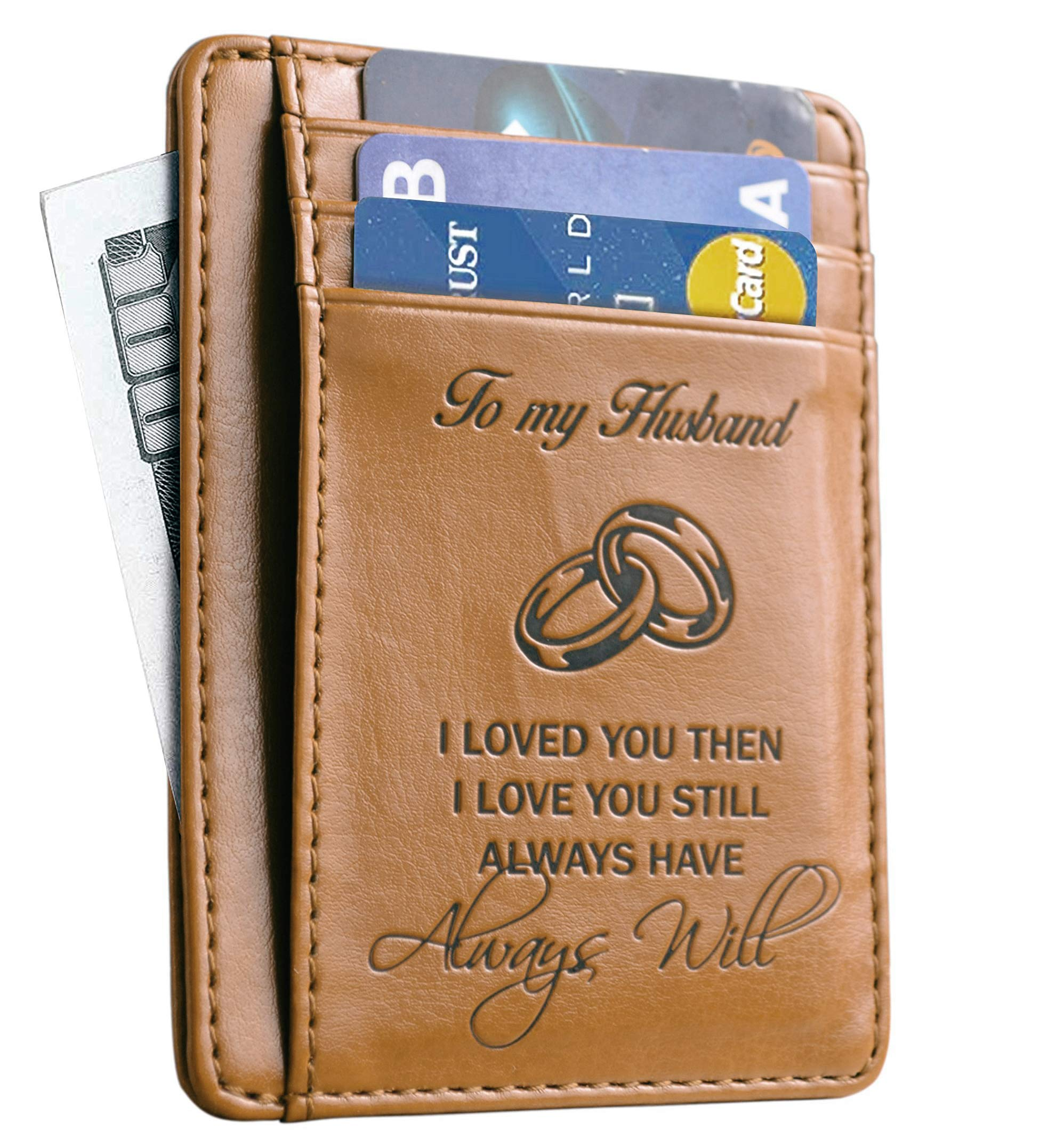 Memory Wife To Husband Gift Best Anniversary Gifts For Him slim Wallet Card Holder  sc 1 st  Amazon.com & Birthday Gifts for Husband From Wife: Amazon.com