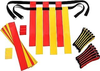 Flag Football Set Kids - Premium 14 Player, 62 Piece Kids Belts and Flags Kit Includes 3 Flags Per Belt Plus a Bonus 6 Rep...