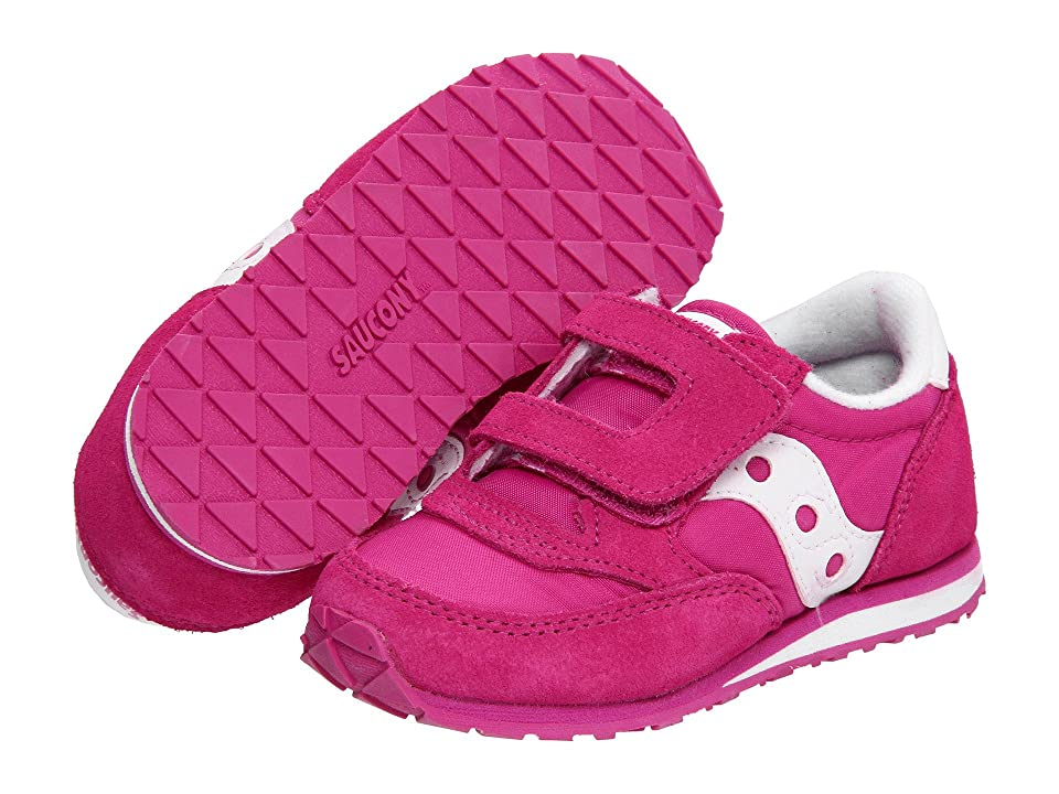 Saucony Kids Originals Jazz Hook Loop (Toddler/Little Kid) (Paradise Pink) Girls Shoes