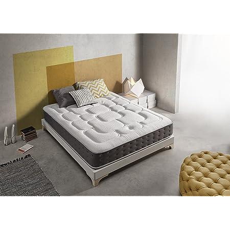 Living Sofa SIMPUR Relax | Matelas Epaisseur 30 cm Royal Top Visco-Graphene | 140x190| Haut Niveau de conductivite Thermique | Reducteur electricite Statique | Perfect Soutien Haute Resilience