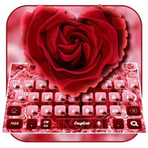 Red Rose Heart Keyboard Theme