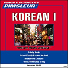 Korean I: Lessons 21 to 25: Learn to Speak and Understand Korean