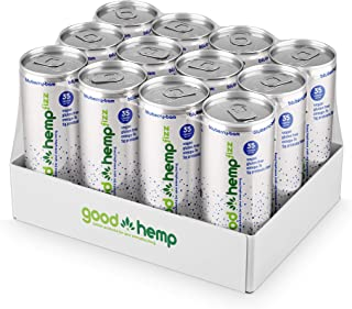 Good Hemp Fizz Low Calorie Carbonated Energy Drink – Vegan Preworkout Energy Shot and Gluten Free Stevia Energy Drink with...