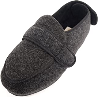 SNUGRUGS Mens Orthopaedic/EEE Wide Fit Adjustable Slipper Boot/Slippers