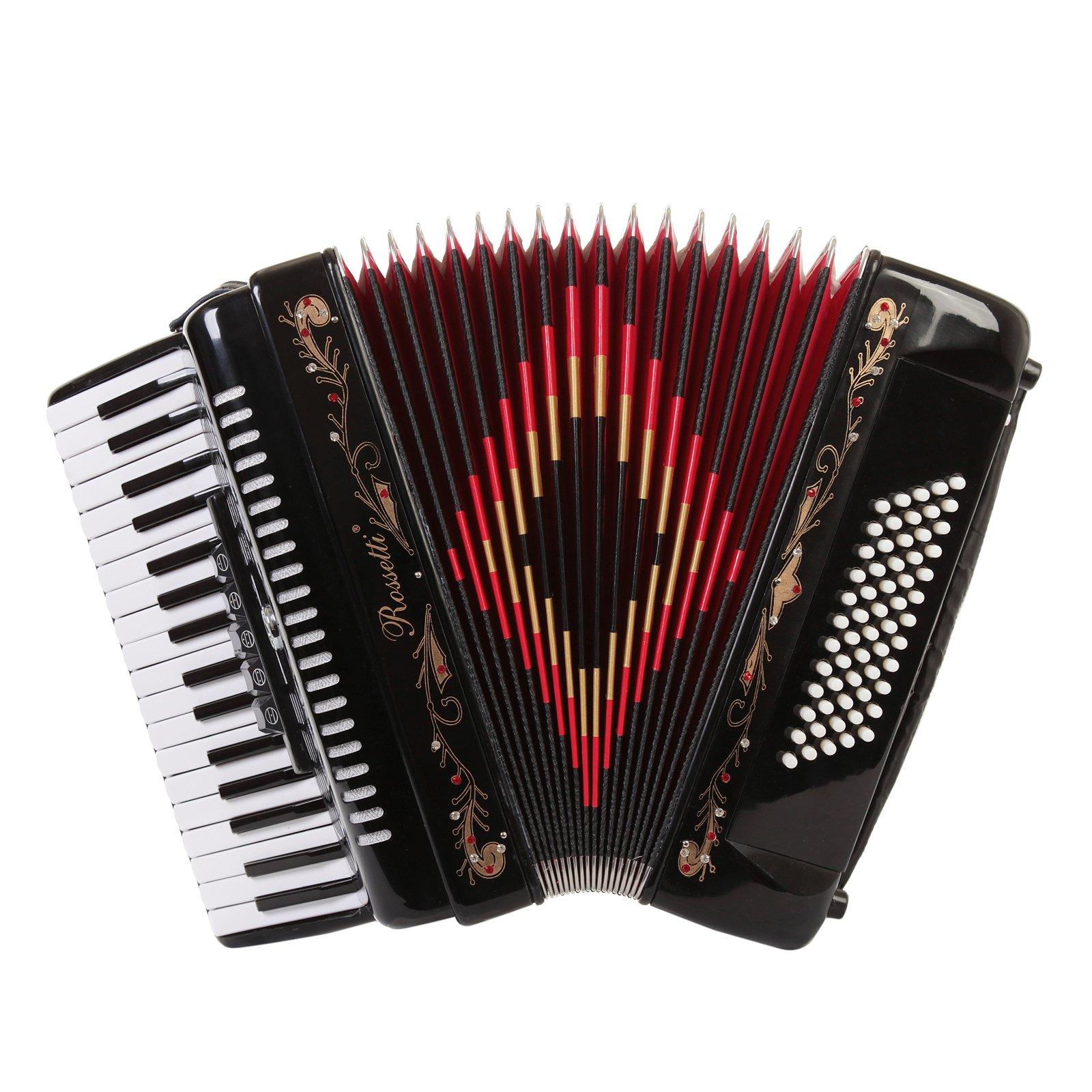 Rossetti Piano Accordion Switches Black