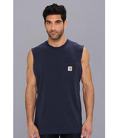 Carhartt Workwear Pocket Sleeveless T-Shirt (Navy) Men