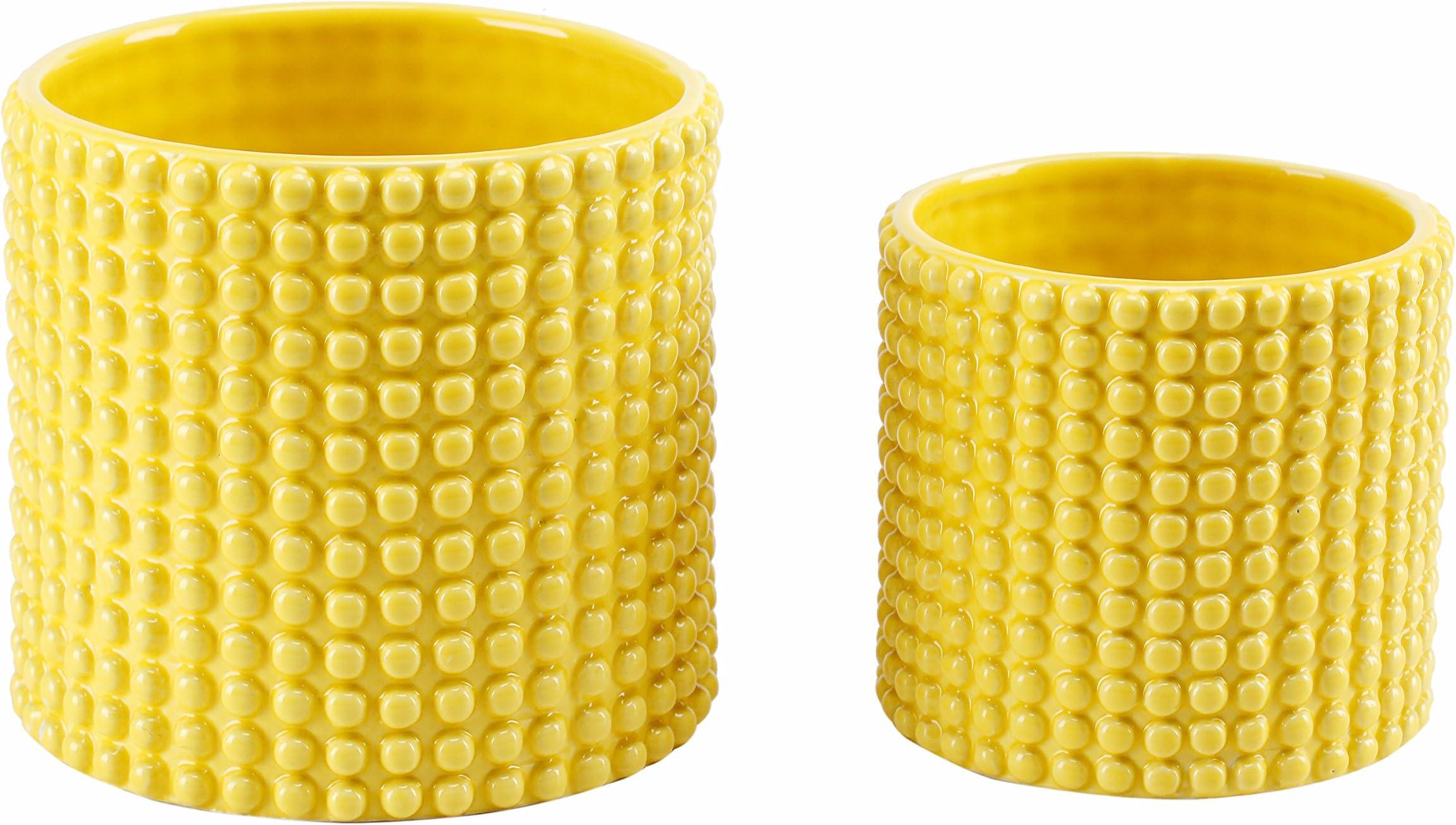Vintage Yellow Flower pot SOLD Mid Century ceramic Planter