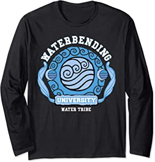 Water Bending University Logo Water Nation  Long Sleeve T-Shirt