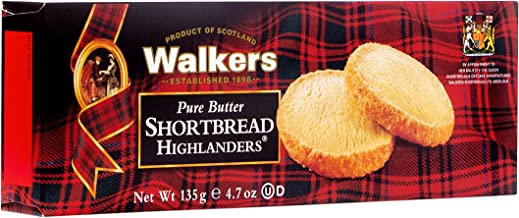 Walkers Shortbread Highlanders, 4.7 oz. Box, Traditional & Simple Pure Butter Shortbread Cookies from the Scottish Highlands, Made with Quality Ingredients, Free from Artificial Flavors