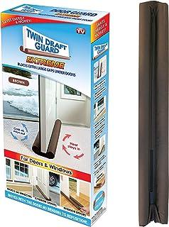 Tope para puerta de bajo puerta, diseño de doble borde, 1 paquete, Marrón
