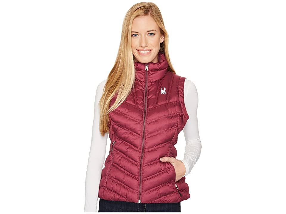 Spyder Geared Synthetic Down Vest (Amaranth) Women